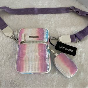 Steve Madden bag crossbody purse colorful zip new